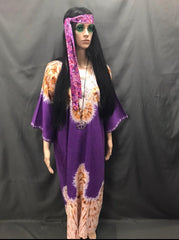60-70s Ladies - Purple Hippie Long Dress - Hire - The Costume Company | Fancy Dress Costumes Hire and Purchase Brisbane and Australia