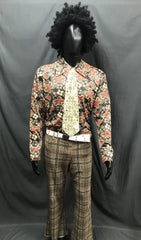 60-70s Mens Costume - Pattern Shirt with Brown Pants - Hire - The Costume Company | Fancy Dress Costumes Hire and Purchase Brisbane and Australia