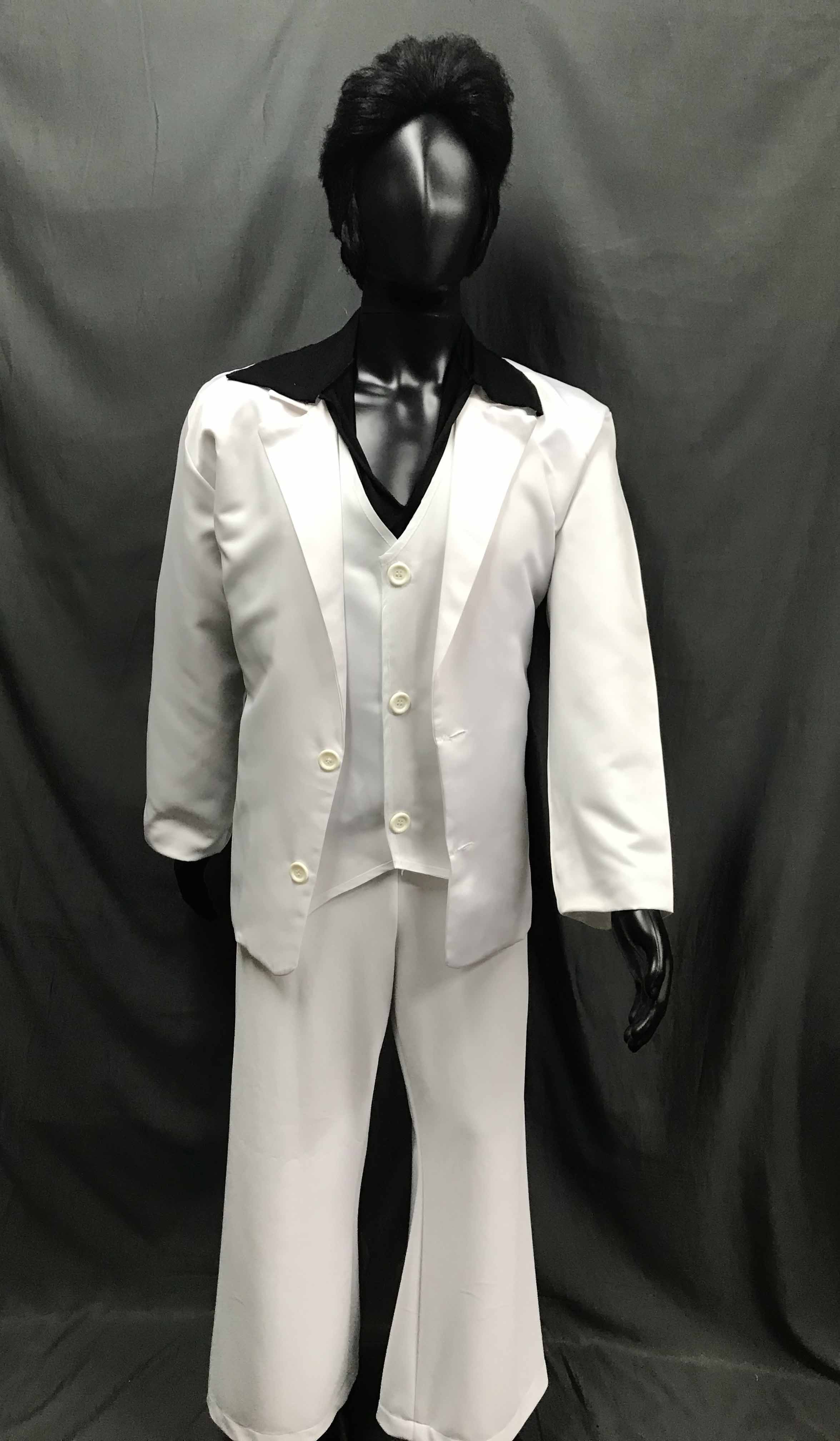 60-70s Mens Disco Costume - Travolta Boogie Nights White Suit - Hire - The Costume Company | Fancy Dress Costumes Hire and Purchase Brisbane and Australia