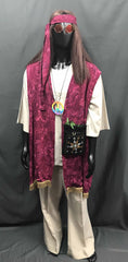 60-70s Mens Hippie Costume - Bright Vest with Flares - Hire - The Costume Company | Fancy Dress Costumes Hire and Purchase Brisbane and Australia