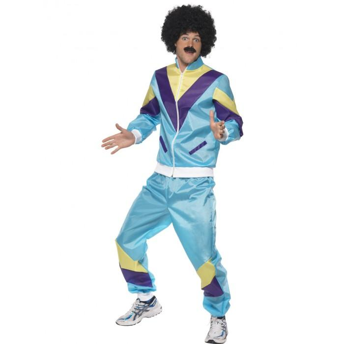80s Height of Fashion Shell Suit Blue - The Costume Company | Fancy Dress Costumes Hire and Purchase Brisbane and Australia
