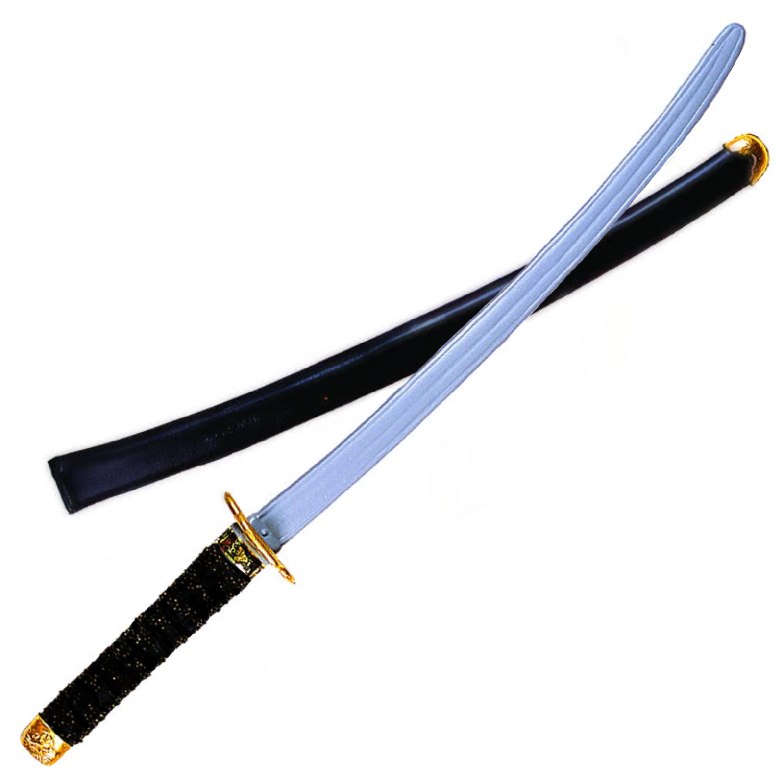 Ninja Sword Black Handle - Costume Sword
