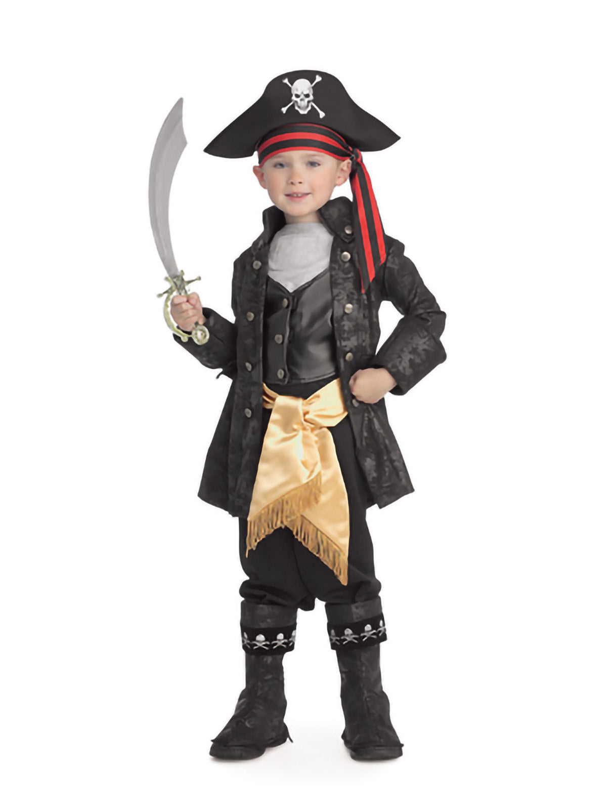 Captain Black Child Pirate Costume - Buy Online Only