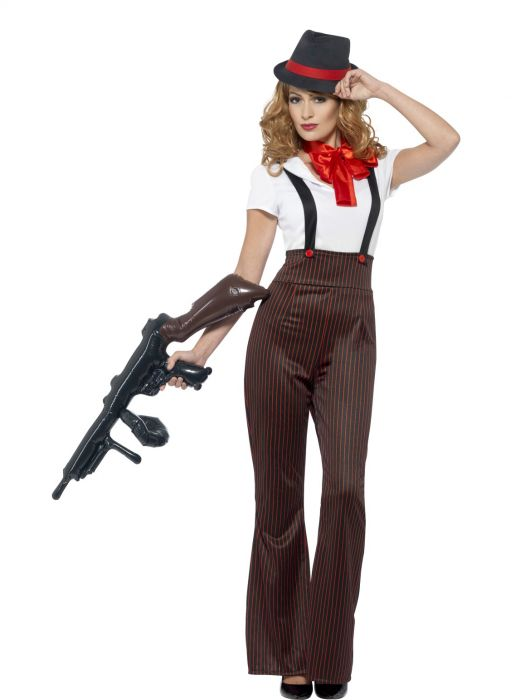 Glam Gangster Moll Costume - Buy Online Only