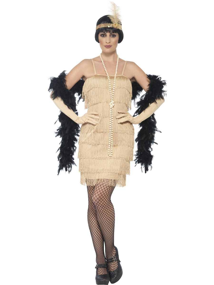 1920s Gold Flapper Dress