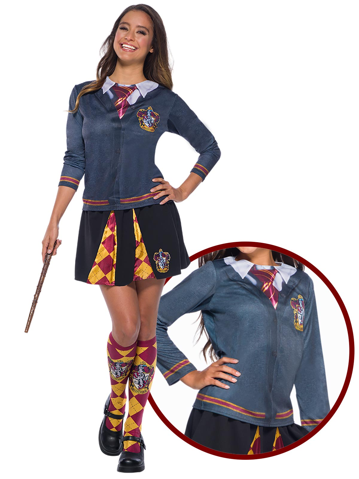Hermione Costume Gryffindor Skirt - Buy Online Only