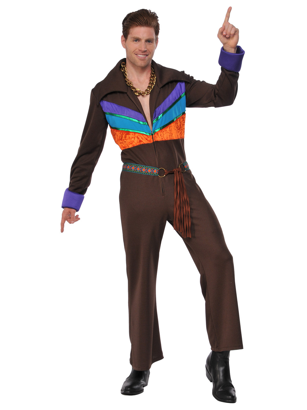 Hippie Man Jumpsuit 60s Costume - Buy Online Only