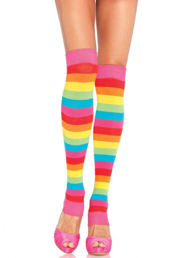 Rainbow Coloured Leg Warmers