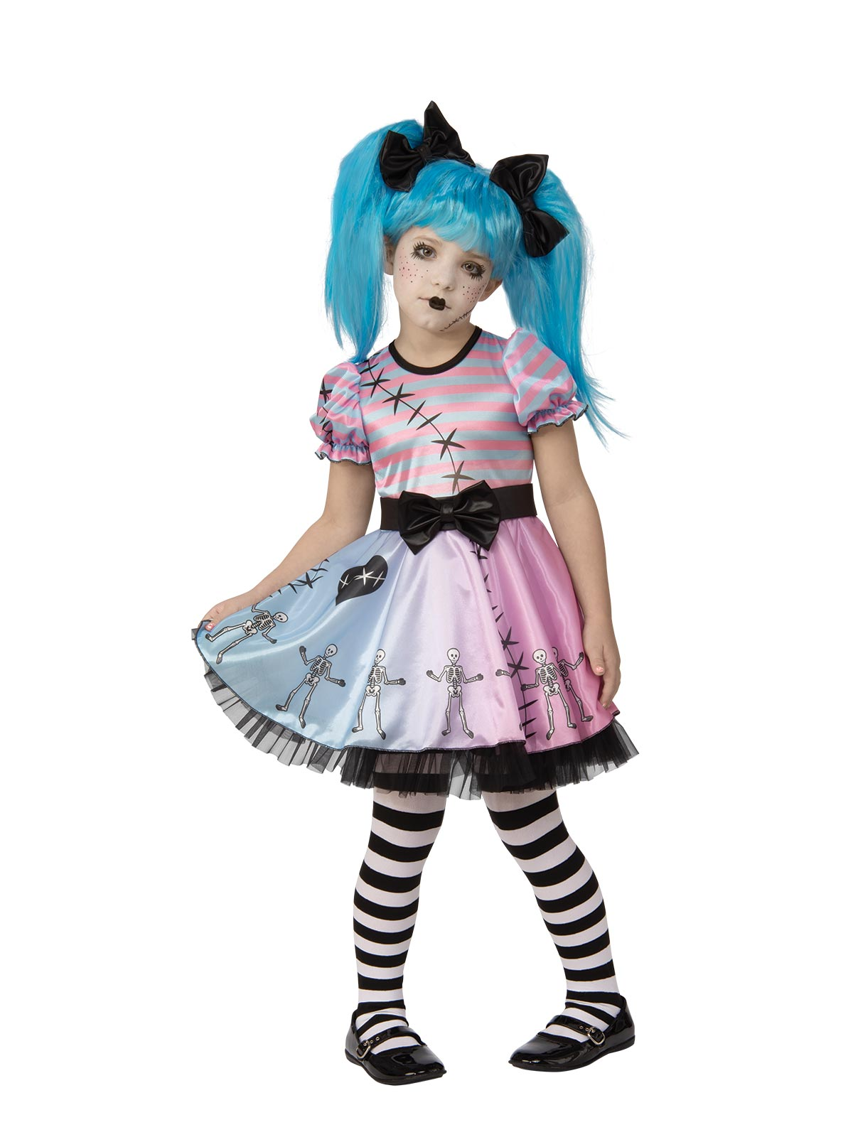 Little Blue Skelly Girl Child Costume - Buy