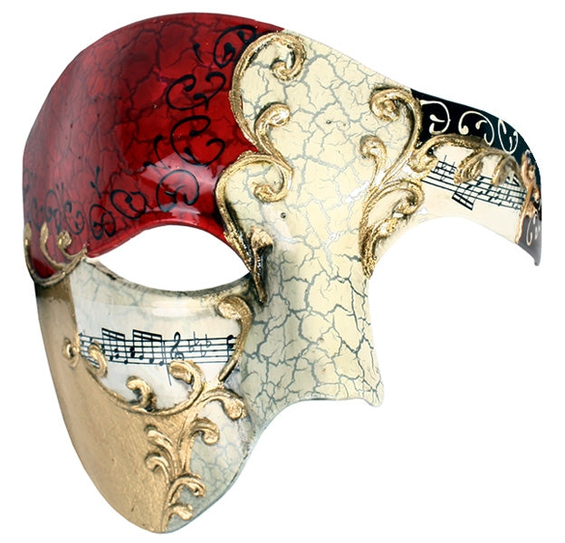 Maestro Red and Gold Eye Mask