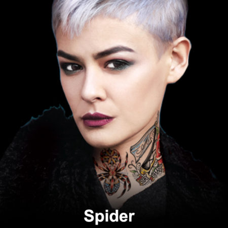 Spider Neck Temporary Tattoo