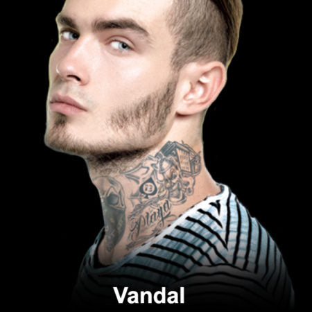 Vandal Neck Temporary Tattoo