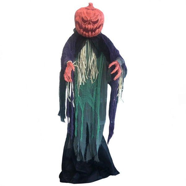 Old Pumpkin Head Lifesize Animated - Buy Online Only