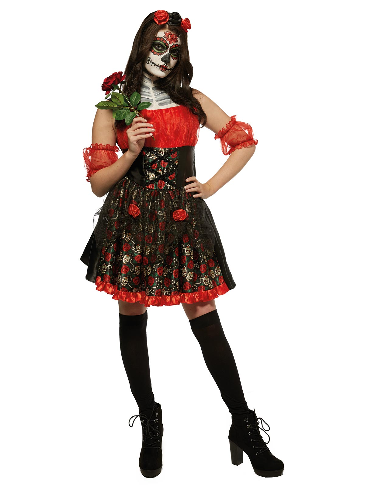 Red Rose Day of the Dead Costume - Buy