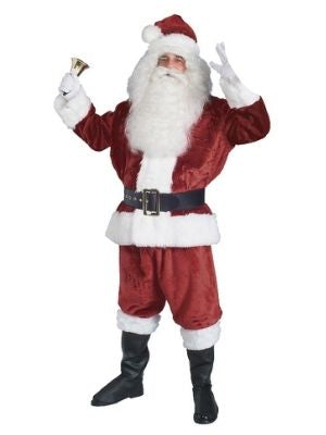 Santa Claus Crimson Plush Costume Adult - Buy Online Only