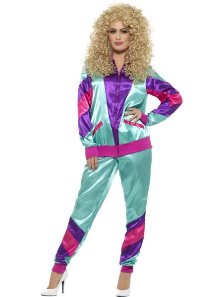 Shell Suit 80s Height of Fashion Blue and Purple - Buy