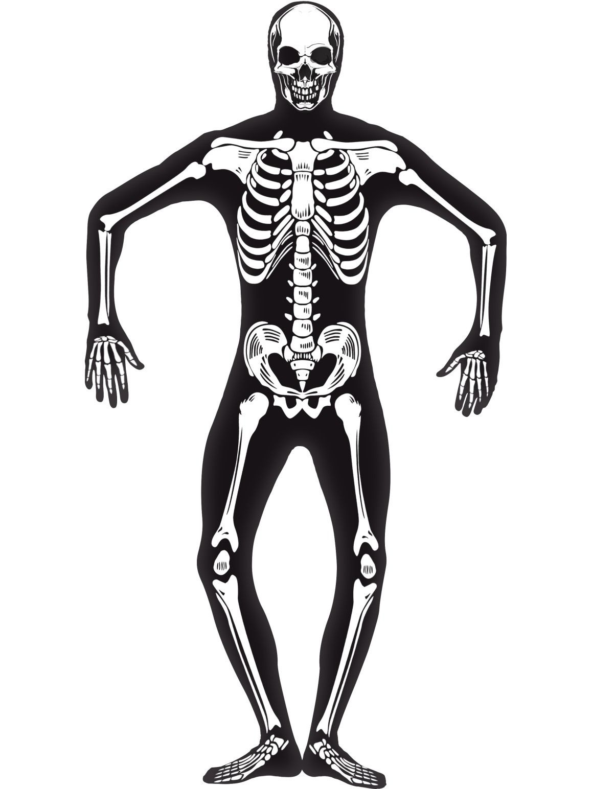 Skeleton Glow Second Skin Glow In The Dark Costume - Buy