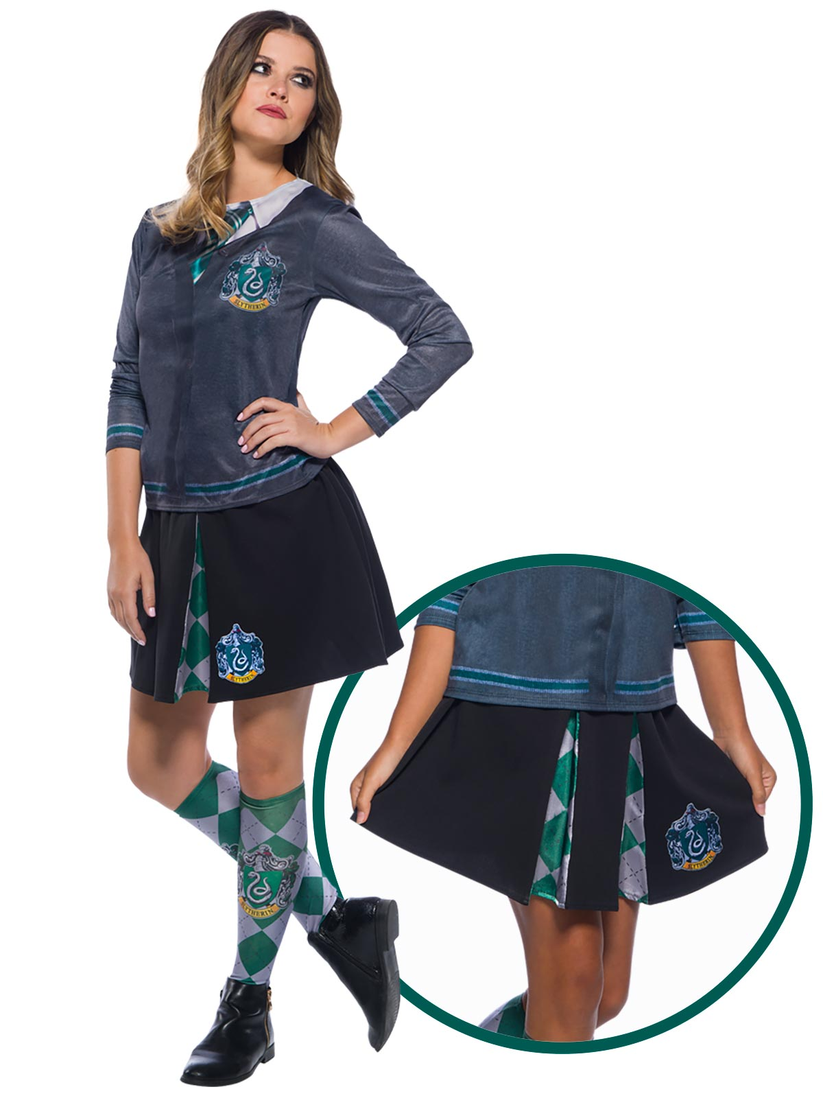 Slytherin Costume Skirt  - Buy Online Only