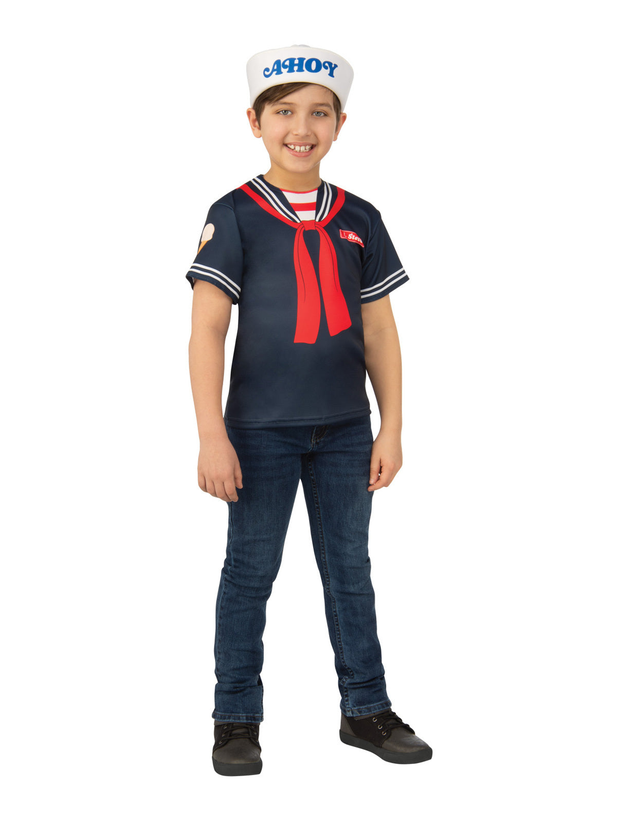Steve Scoops Ahoy Stranger Things Child Top - Buy Online Only