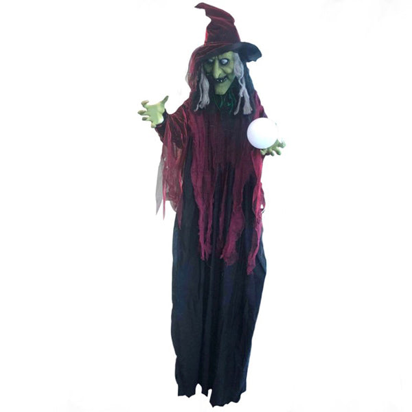 Swamp Hag Lifesize Animated Witch with Crystal Ball - Buy Online Only