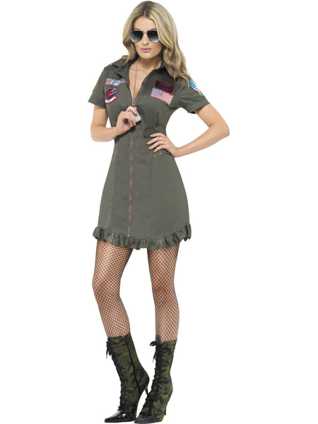Top Gun Deluxe Ladies Costume - Buy Online Only