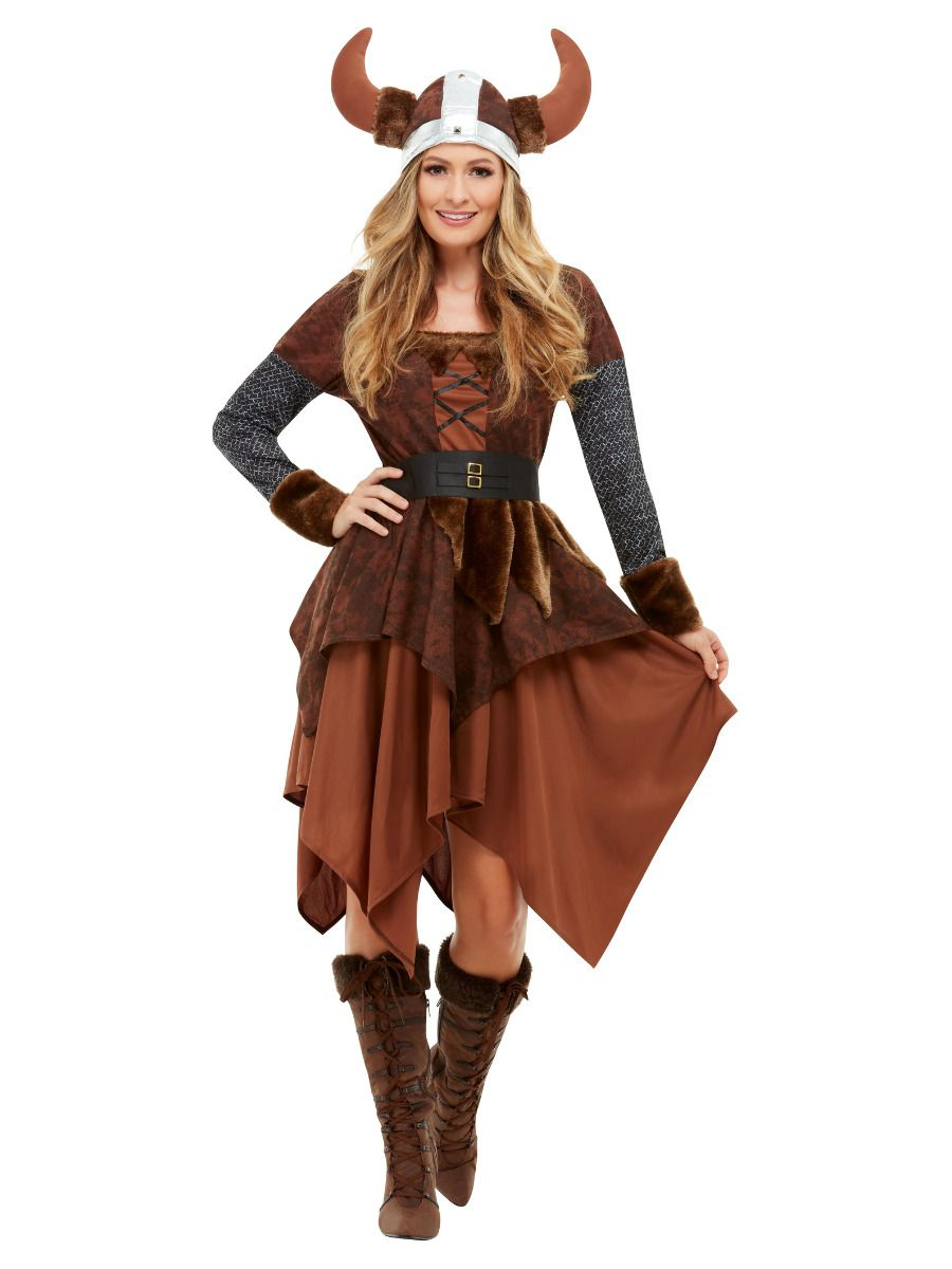 Viking Barbarian Queen Costume - Buy Online Only