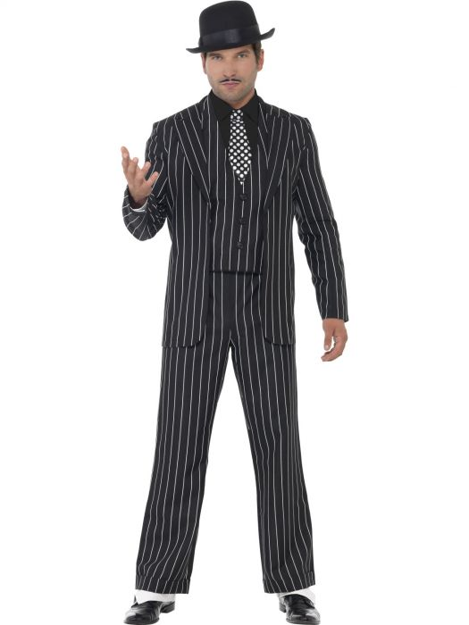 Vintage Gangster Black Costume - Buy Online Only