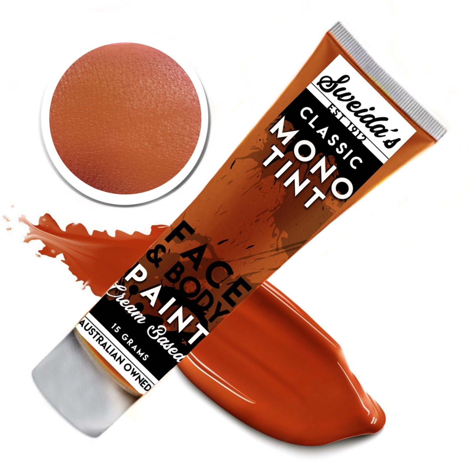 Warm Brown - Monotint Liquid Face & Body Paint 15g