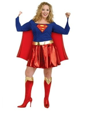 Supergirl Deluxe Plus Size Costume - Buy Online Only