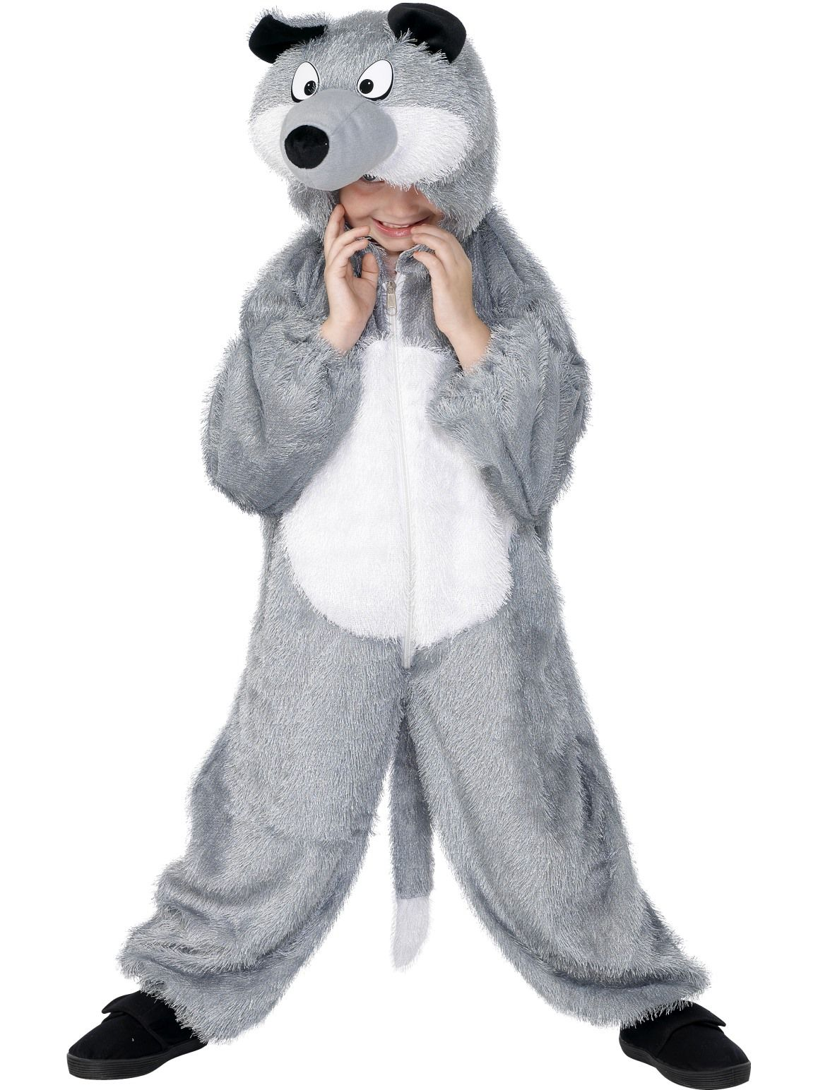 Wolf Child Fluffy Onesie Costume - Buy Online Only