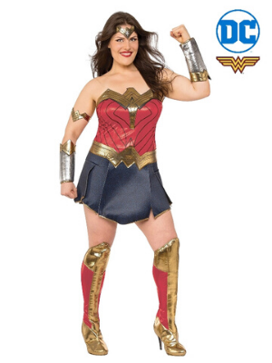 Wonder Woman Justice League Deluxe Plus Size Costume - Buy Online Only