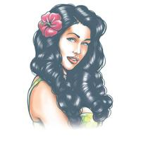 Aloha Pin Up Tattoo - The Costume Company | Fancy Dress Costumes Hire and Purchase Brisbane and Australia