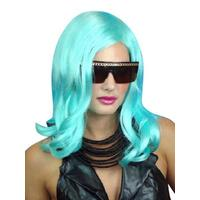 Aqua/Blue Pop Star Style Wig - The Costume Company | Fancy Dress Costumes Hire and Purchase Brisbane and Australia
