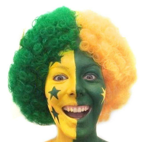 Aussie Green and Gold Wig - The Costume Company | Fancy Dress Costumes Hire and Purchase Brisbane and Australia