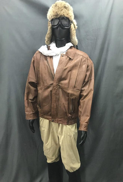 Aviator with Fur Flight Hat - Hire - The Costume Company | Fancy Dress Costumes Hire and Purchase Brisbane and Australia