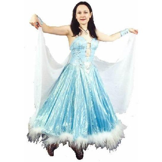 Ballroom Gown Blue Costume - Hire - The Costume Company | Fancy Dress Costumes Hire and Purchase Brisbane and Australia