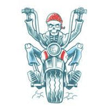 Biker Born to Ride Tattoo - The Costume Company | Fancy Dress Costumes Hire and Purchase Brisbane and Australia