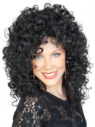 Black Pop Star Style Wig - The Costume Company | Fancy Dress Costumes Hire and Purchase Brisbane and Australia