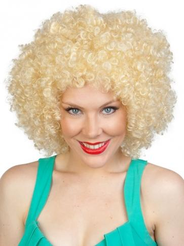 Blonde Afro Wig - The Costume Company | Fancy Dress Costumes Hire and Purchase Brisbane and Australia