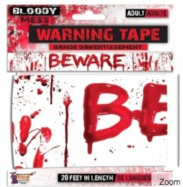 Bloody Beware Tape - The Costume Company | Australian & Family Owned