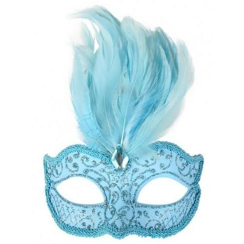 Blue Daniella Masquerade Mask - The Costume Company | Fancy Dress Costumes Hire and Purchase Brisbane and Australia