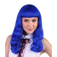 Blue Pop Star Style Wig - The Costume Company | Fancy Dress Costumes Hire and Purchase Brisbane and Australia