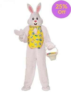 Bunny Mascot Deluxe Costume - Online Only - The Costume Company | Australian & Family Owned