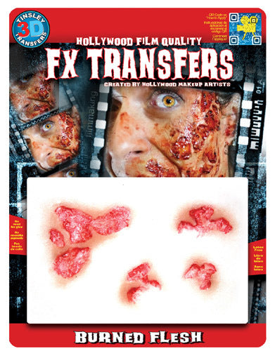 Burned Flesh 3D Transfers - Buy Online Only