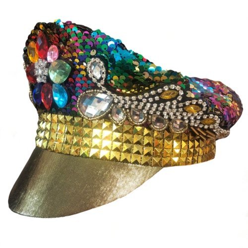 Burning Man Sequin Rainbow Hat - The Costume Company | Fancy Dress Costumes Hire and Purchase Brisbane and Australia