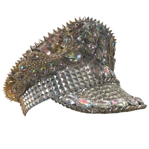 Burning Man Sequin Silver Festival Hat - The Costume Company | Fancy Dress Costumes Hire and Purchase Brisbane and Australia