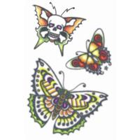 Butterflies Vintage 1960s Tattoo - The Costume Company | Fancy Dress Costumes Hire and Purchase Brisbane and Australia