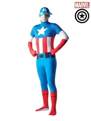 Captain America Morph Suit Costume - Buy Online Only - The Costume Company | Australian & Family Owned