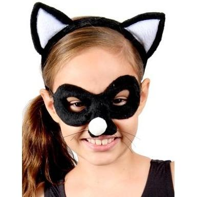Cat - Headband and Mask Set - The Costume Company | Fancy Dress Costumes Hire and Purchase Brisbane and Australia
