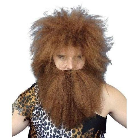 Caveman Wig & Beard Set - The Costume Company | Fancy Dress Costumes Hire and Purchase Brisbane and Australia